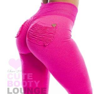 Cute Booty Lounge Pants - Pink Legging